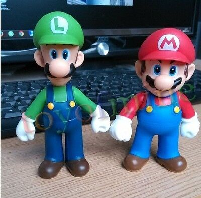 new 2 pcs Super Mario Brother Mario and Luigi Action Figure Toy Set