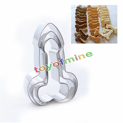 3Pcs Stainless Steel Penis Cookies Cutter Baking Biscuit Fondant Cake Mold Set