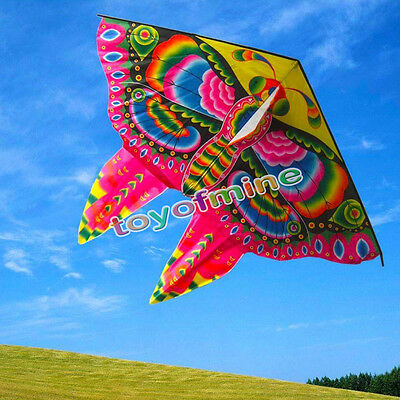 NEW 59-Inch Colorful Butterfly kite single line outdoor fun sports novelty