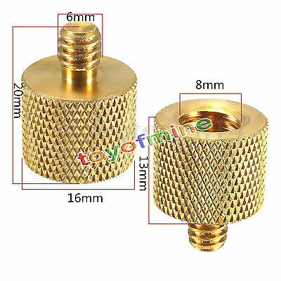 1pc 3/8'' Female to 1/4'' Male Brass Tripod Thread Reducer Adapter For Camera AU