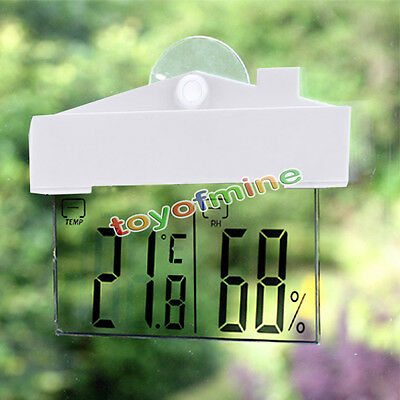 LCD Digital Window Thermometer Hygrometer Humidity Temperature Meter in/outdoor