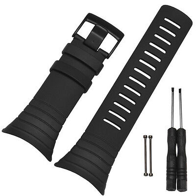 Luxury Rubber Standard Replacement Watch Band Strap Kit + Clasp For SUUNTO CORE