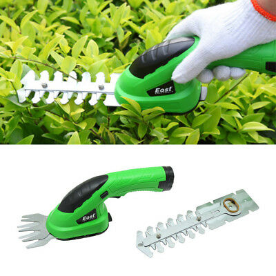 East 3.6V 2 IN 1 Combo Lawn Mower Li-Ion Rechargeable Hedge Trimmer Grass Cutter