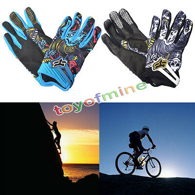 Sports Cycling Motorcycle Bike Racing Bicycle Skull Mechanic Full Finger Gloves