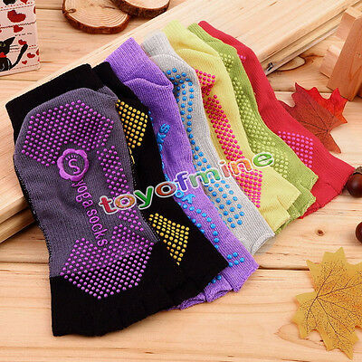 Five Finger No-Slip 1Pair Comfort Durable Yoga Pilates Socks Half Toe Ankle Grip