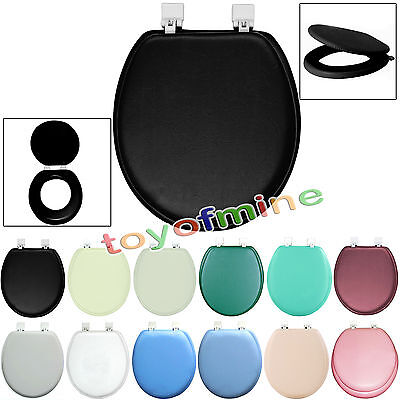 17in PVC Padded Comfort Toilet Seat Cushioned Soft  Standard Size Hinges Plastic