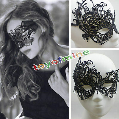 Charming Lady's Eye Mask Lace Venetian Masquerade Ball Halloween Party Costume