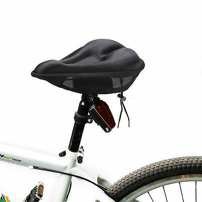 1pc Black Extra Comfort Soft Bicycle Gel Pad Cushion Cover for Saddle Seat