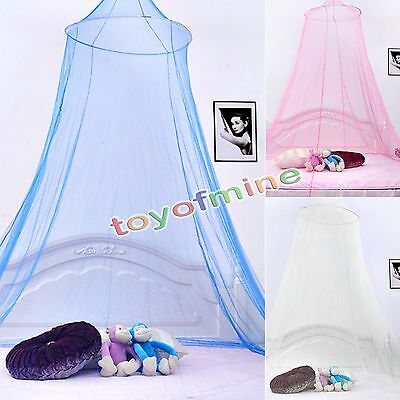 1XNew Canopy Netting Curtain Fly Midges Insect Cot Mosquito Net Elegant Lace Bed