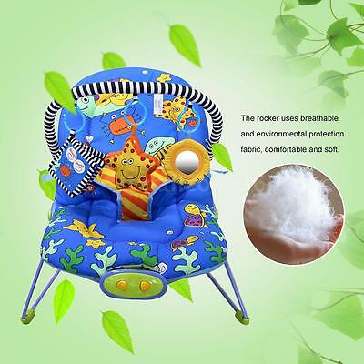 New Ametoys Adjustable Baby Bouncer Seat Rocker Snoothing Vibration Chair O1T0