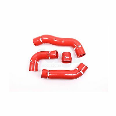 Forge 4 Red Silicone Boost Hoses & Stainless Clamps For Honda Civic Type R FK2