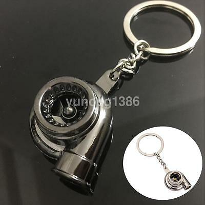 2018 Creative Metal Keyring Blower Turbo Model Keychain Car Key Chain Ring Gift