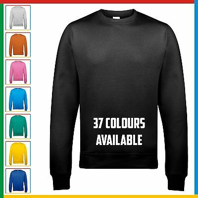 AWDis KIDS PLAIN SWEATSHIRT Classic Sweater Jumper Top - Casual Childrens Cotton