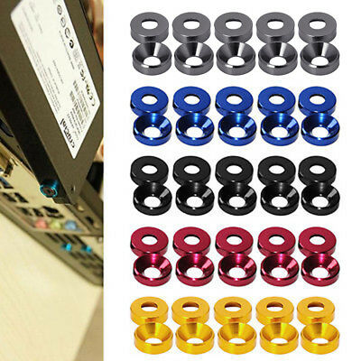 M2 M3 M4 M5 Anodized Countersunk Head Bolt Washers Gasket Aluminum Alloy New