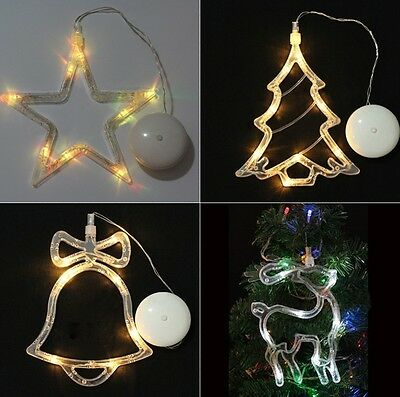 Christmas Party Led Light Sucker Window Glass Xmas Tree Hanging Decoration Lamp