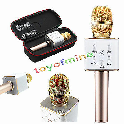 New Q7 Wireless Karaoke Bluetooth Microphone Speaker Portable for For PC Phone