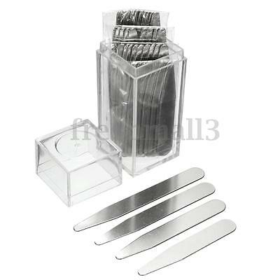 40Pcs Stainless Steel Collar Stays Stiffeners Inserts Men's Dress Shirt 4 Size