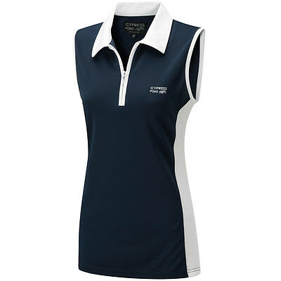 70% OFF RRP Cypress Point Ladies Sleeveless Golf Polo Shirt Womens Vest Tennis