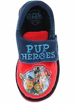 Boys Infant Paw Patrol Puppy Chase Marshall Character Touch Close Slippers