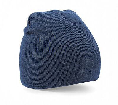 Wholesale Beanies Unisex Beanie Hats in Navy 6 or 12 Pack - Big Bulk Savings