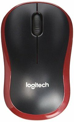 Logitech 2.4 GHz Wireless M185 Optical Track Standard Mouse for Mac & PC Red NEW