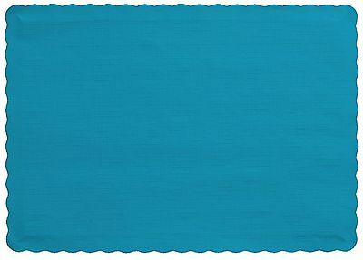 Creative Converting 50 Count Touch of Color Paper Placemats, Turquoise