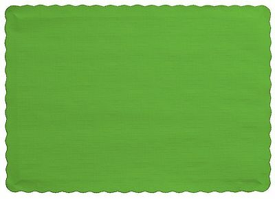 Creative Converting 50 Count Touch of Color Paper Placemats, Fresh Lime