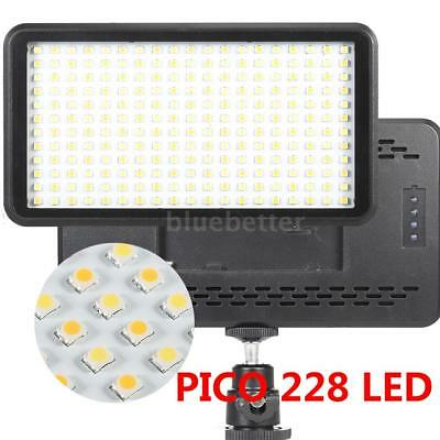 228 LED Video Light Panel Studio Lamp Dimmable 2000LM for Camera DV Camcorder US
