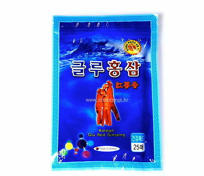 1 Pack 25 Pcs Korean Glu Red Ginseng Pain Relief Patches Saponin Plaster Pads