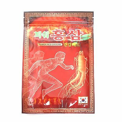 1 Pack 20 Pcs Korean Power Red Ginseng Pain Relief Patch Saponin Plaster Pads