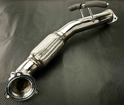 """Stainless Steel Ford Focus St225 Frontpipe Flexi Exhaust Turbo Downpipe 3"""""""