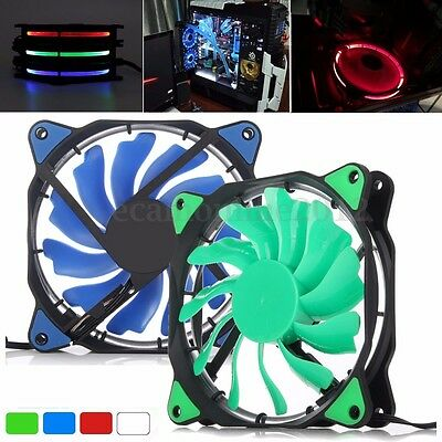 3-Pin/4-Pin 120mm PWM PC Computer Case CPU Cooler Cooling Fan with LED Light 12V