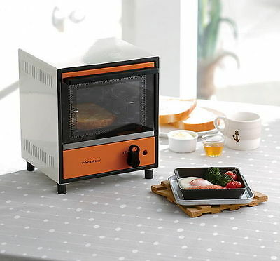 RECOLTE Electric Solo Mini Oven Toaster Japanese Appliance in White/Orange 220V