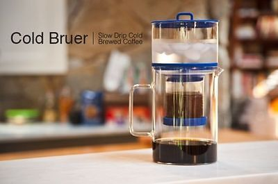 BRUER Dutch Coffee Maker Cold Brew 600ml Slow Drip Stainless Mesh Filter NEW