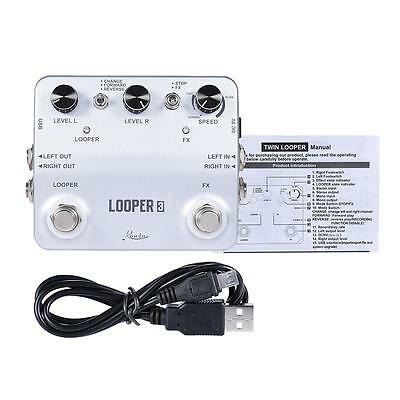 Rowin LOOPER3 Guitar Effects Pedal Mono Stereo Input/Output Sound Recording Y7Q1