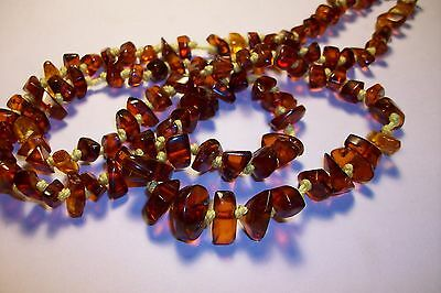 Antique Stunning Genuine Cherry Baltic Amber Necklace 17 Gm