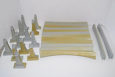 Disney Monorail Train Track Lot 12 Curved,  2 Straight & 13 Support  YELLOW