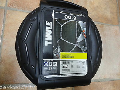 THULE KONIG SNOW CHAINS CG-9 - Size 060 - SELF-TENSIONING - NEW