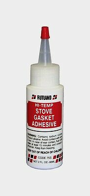 New!!! #75S RUTLAND Stove Gasket Adhesive Clear 2 oz. Silicate Clear