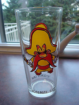 Vintage ✿YOSEMITE SAM c 1973 PEPSI  Drinking GLASS ✿ LOONEY TUNES WARNER BROS.