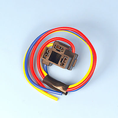 H4 3 Pin Headlight Replacement Repair Bulb Holder Connector Plug Wire Socket