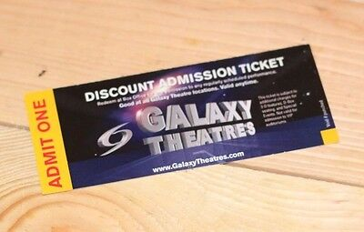 10 Galaxy theaters Movie pass Tickets valid dicount admission wholesale