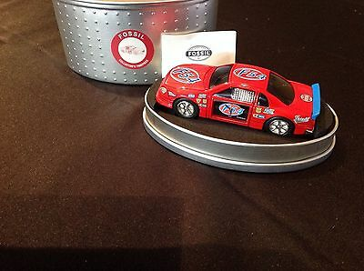 LIMITED EDITION Timepiece RED RACE CAR Clock F54 in Tin by Fossil NIB