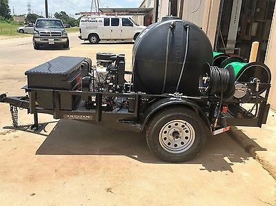 Trojan Trailer Mounted Sewer & Drain Line Jetter 10 GPM @ 3000 PSI