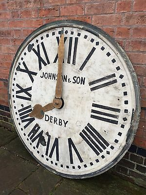 Massive Rare Antique Copper Clock Face Derby