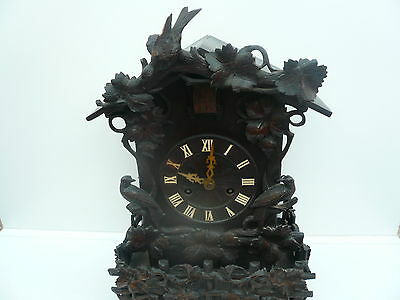 Cuckoo Clock, Black Forest, Double Fusee, Bracket, Aron Ketterer, c.1880 .