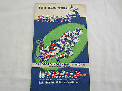 1948 RUGBY LEAGUE CHALLENGE CUP FINAL BRADFORD NORTHERN v WIGAN