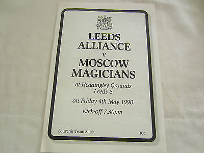 1990  RUGBY LEAGUE LEEDS ALLIANCE v MOSCOW MAGICIANS