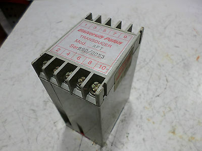 UNIVERSITY PATON SERIES 88 AVT TRANSDUCER 881020 - 4..20mA output  110AC supply