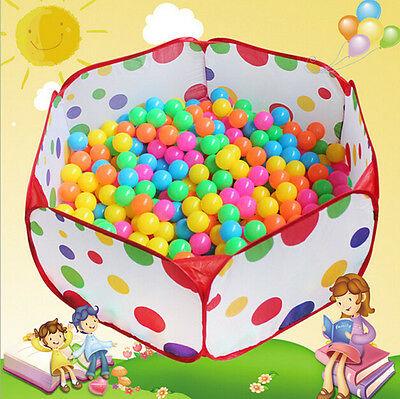 Kids Portable Pit Ball Pool Outdoor Indoor Baby Tent Play Hut Have Fun Foldable!
